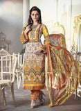 NS11676 Yellow & Pink Color Satin Cotton Designer Suit