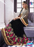 AZ 2047 Black jacquard Georgette Fancy Party Wear Saree - Sarees - NEW SHOP