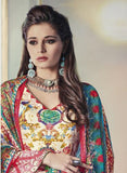 NS11678 Red Color Satin Cotton Designer Suit