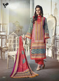 NS11679 Multi Color Satin Cotton Designer Suit