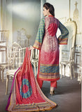 NS11679 Multi Color Satin Cotton Designer Suit Online
