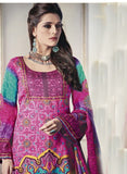 NS11682 Pink Color Satin Cotton Designer Suit