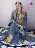 AZ 2053 Grey jacquard Georgette Fancy Party Wear Saree Online