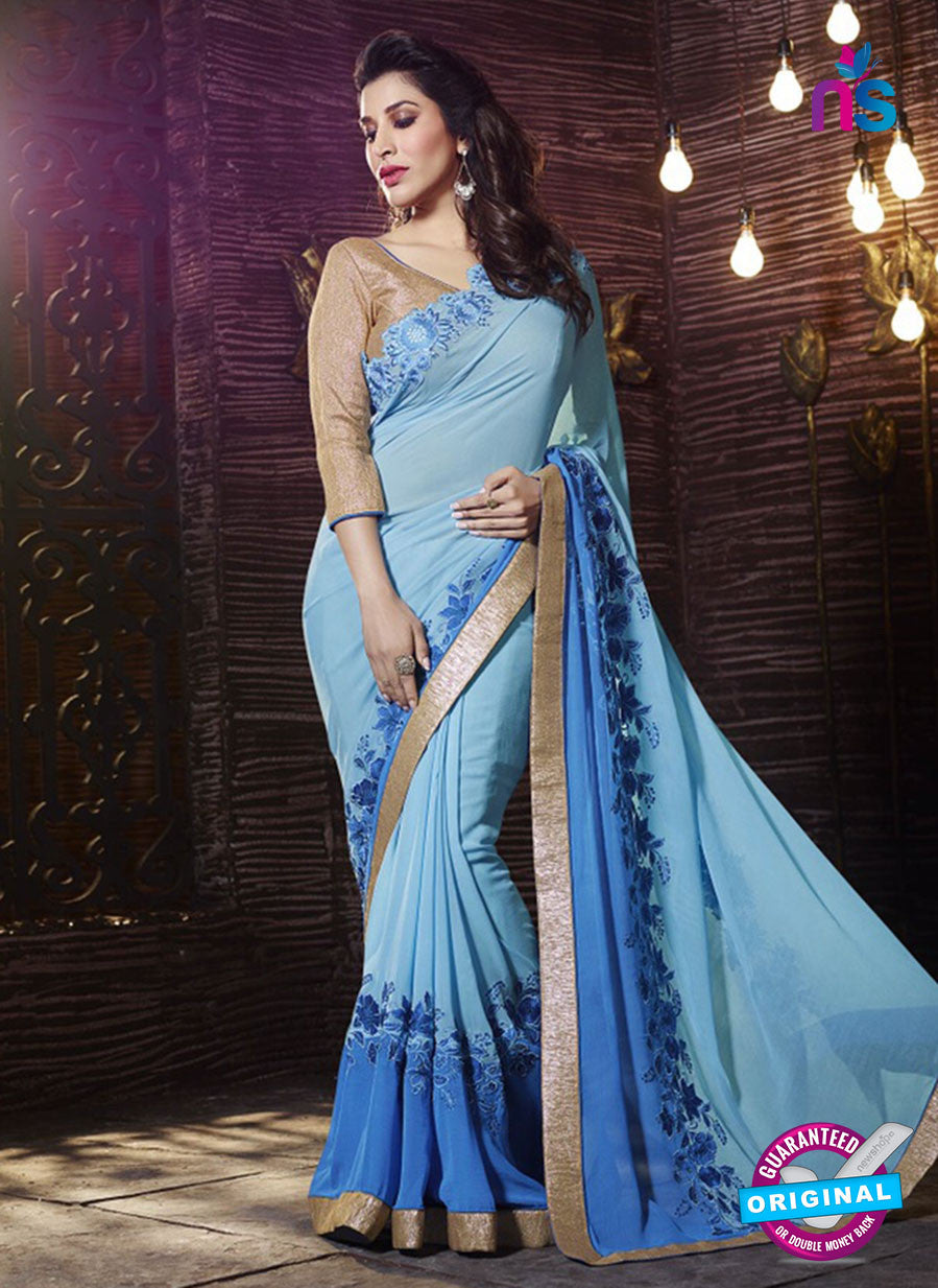 SC 13508 Sky Blue Designer Fancy Traditional Party Wear Saree