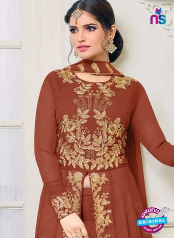 MF 96007 Brown Indo Western Suit