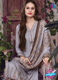 SC 13942 Grey and Brown Glace Cotton Fancy Designer Plazo Suit Online