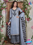 SC 13939 Blue and Black Glace Cotton Fancy Designer Plazo Suit