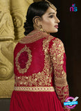 AZ 3307 Red Embroidery Georgette Plazo Suit Online Shopping