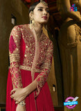 AZ 3307 Red Embroidery Georgette Plazo Suit Online