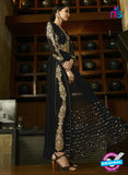 AZ 3310 Black Embroidery Georgette Plazo Suit