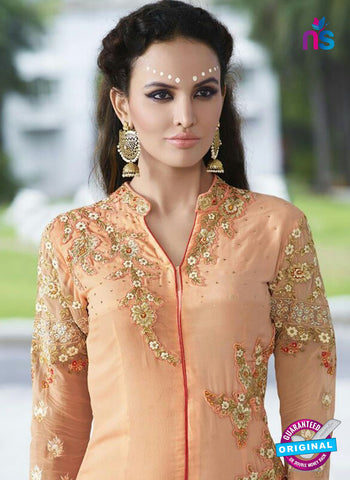 AZ 5853 Peach Party Wear Suit