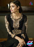 AZ 3310 Black Embroidery Georgette Plazo Suit Online