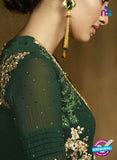 AZ 3311 Green Embroidery Georgette Plazo Suit