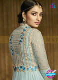 AZ 3312 Sky Blue Embroidery Georgette Plazo Suit Online