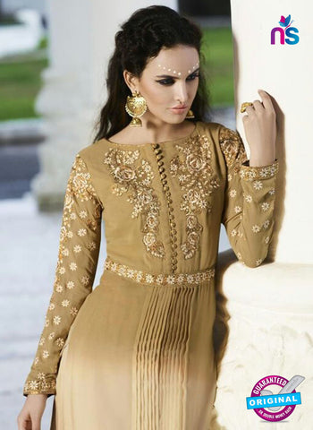 AZ 5856 Beige Party Wear Suit
