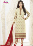 Avon 991 White & Red Color Georgette Designer Suit