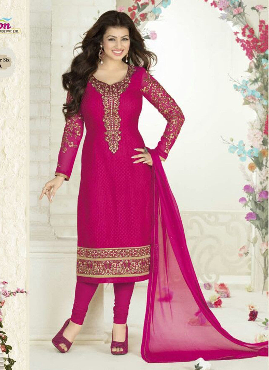 Avon A Pink Color Georgette Designer Suit