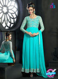 NS10009 Aqua Green Georgette Designer Anarkali Suit