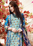 Avon 1105 Blue & Red Color Glace Cotton Designer Suit - Salwar Suits - NEW SHOP