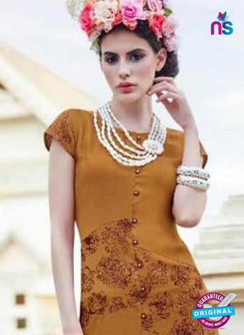 BD17 Brown Formal Kurti
