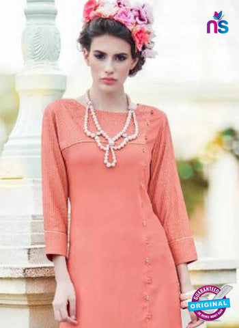 BD22 Peach Formal Kurti