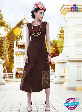 BD23 Brown Formal Kurti