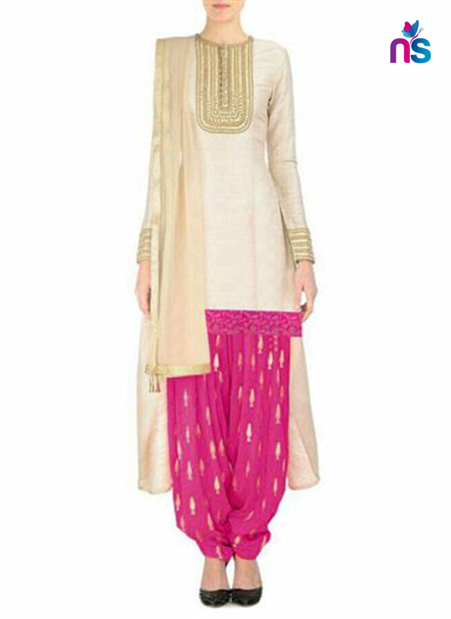 SC 12484 and Magenta Chanderi Party Wear Patiyala Suit