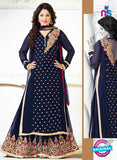 SC 12564 Blue Embroidered Georgette Party Wear Designer Plazo Suit