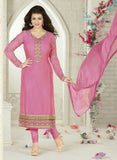 Avon C Pink Color Georgette Designer Suit