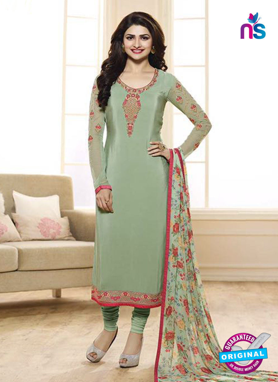 Vinay Fashion 3843 Green Embroidered Crape and Georgette Party Wear Straight Suit