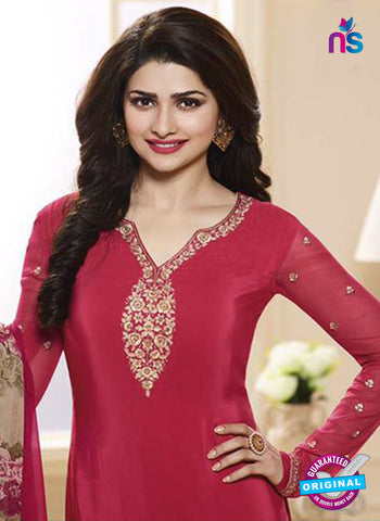 Vinay Fashion 3844 Red Embroidered Crape and Georgette Party Wear Straight Suit