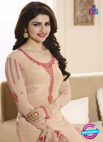 Vinay Fashion 3845 Beige Embroidered Crape and Georgette Party Wear Straight Suit Online