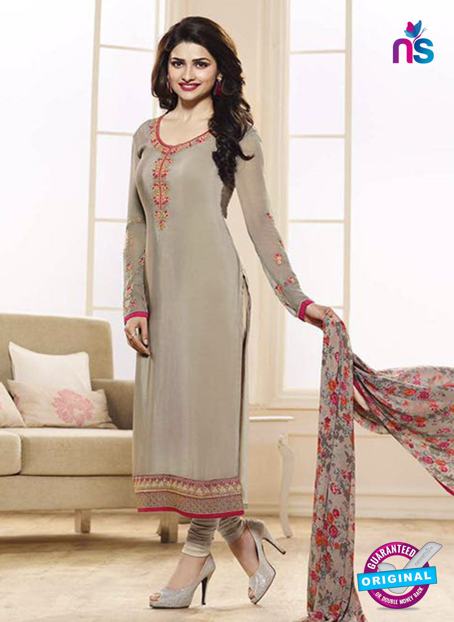 Vinay Fashion 3847 Grey Embroidered Crape and Georgette Party Wear Straight Suit