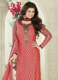 Avon D Peach Color Georgette Designer Suit - Salwar Suits - NEW SHOP