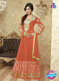 SC 12376 Orange and Multicolor Embroidered Georgette Party Wear Anarkali Suit