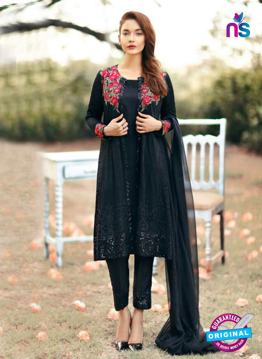 SC 14064 Black Faux Georgette Function Wear Pakistani Suit