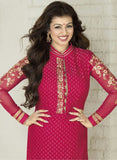 Avon F Red Color Georgette Designer Suit - Salwar Suits - NEW SHOP