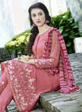 NS11507 BrightPink Party Wear Faux Georgette Pakistani Suit Online