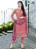 NS11507 BrightPink Party Wear Faux Georgette Pakistani Suit