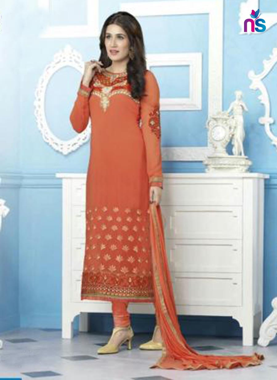Sagarika 11216 Red Party Wear Foux Georgette Straight Suit