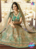 AZ 2128 Sea Green Silk  Party Wear Lehenga - Lehengas - NEW SHOP