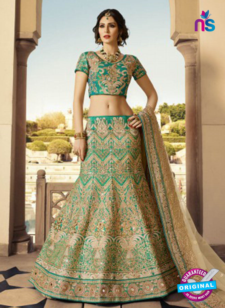 AZ 2128 Sea Green Silk  Party Wear Lehenga