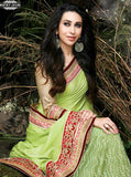NS10493  Green Color Net Chinon Designer Saree