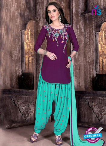 L03 Purple Cotton Patiala Salwar Suit