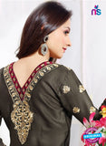 NS 12008 Black and  Red Designer Straight Suit Online