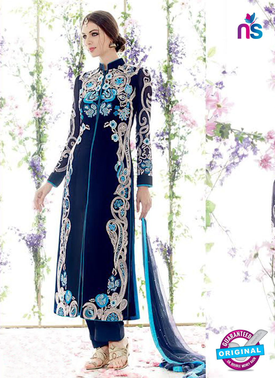 NS10718 Blue color Georgette Designer Suit