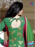NS10033 Magenta and Green Party Wear Georgette Straight Suit Online