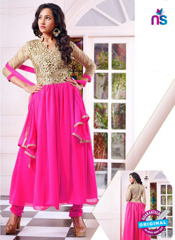 SC 14319 Pink Georgette Anarkali Suit