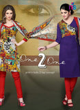 NS11531 Multicolor and Purple Chudidar Suit