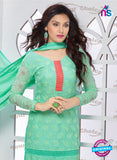 NS10310 Green Pure Chiffon Designer Straight Suit Online